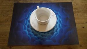 blauwe placemat