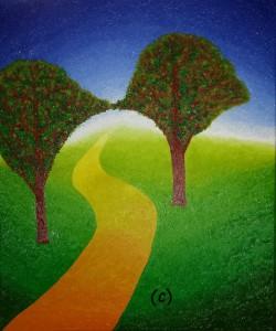 De bomenboog. Olieverf op canvas (50 x 60 cm)