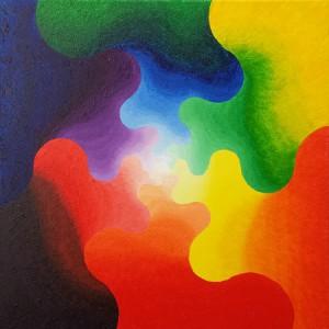 Energiezoen. Olieverf op canvas (50 x 50 cm)