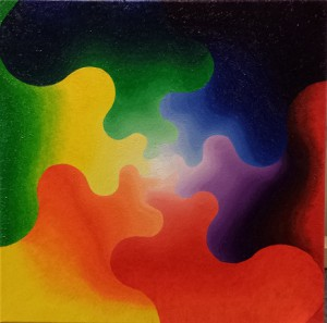 Energiepuzzel. Olieverf op canvas (50 x 50 cm). Verkocht.