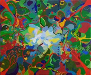 Fairytale.Olieverf op canvas (50 x 60 cm). Gereserveerd.
