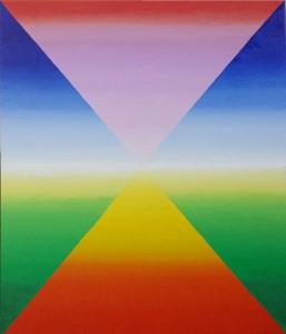 Oneindig landschap. Olieverf op canvas (50 x 60 cm).