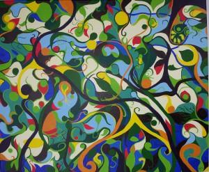 Schepping. Acrylverf op canvas (50 x 60 cm)