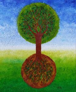Voorlandboom. Olieverf op canvas (50 x 60 cm). Gereserveerd.